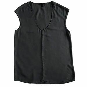 J. Crew Sleeveless V-neck Top Gray Size 4